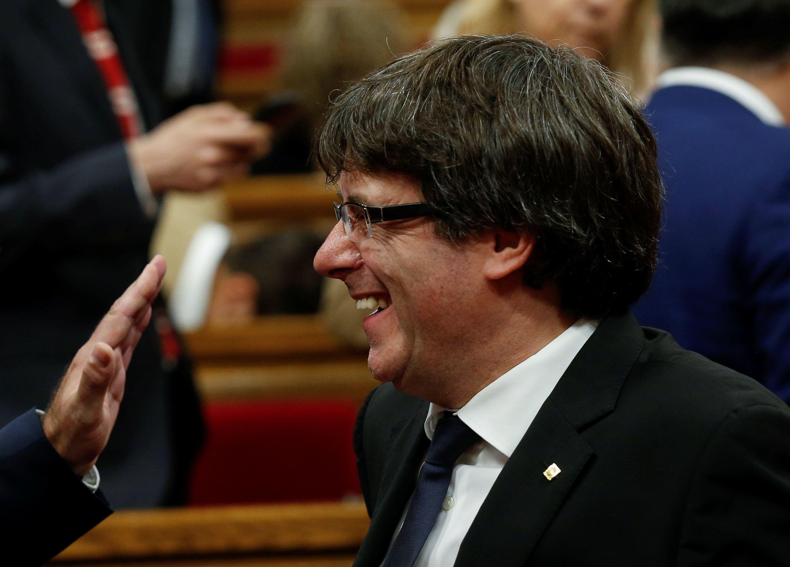 Пучдемон начинает избирательную кампанию в Каталонии