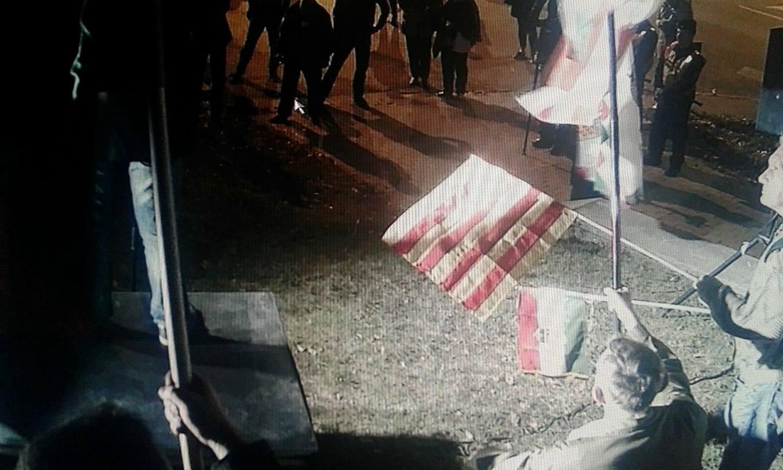 В Будапеште у посольства Украины устроили акцию