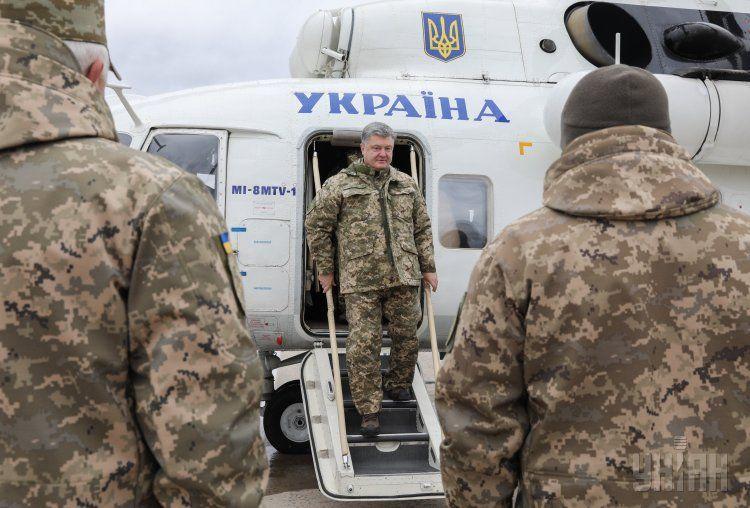 Петр Порошенко и военные