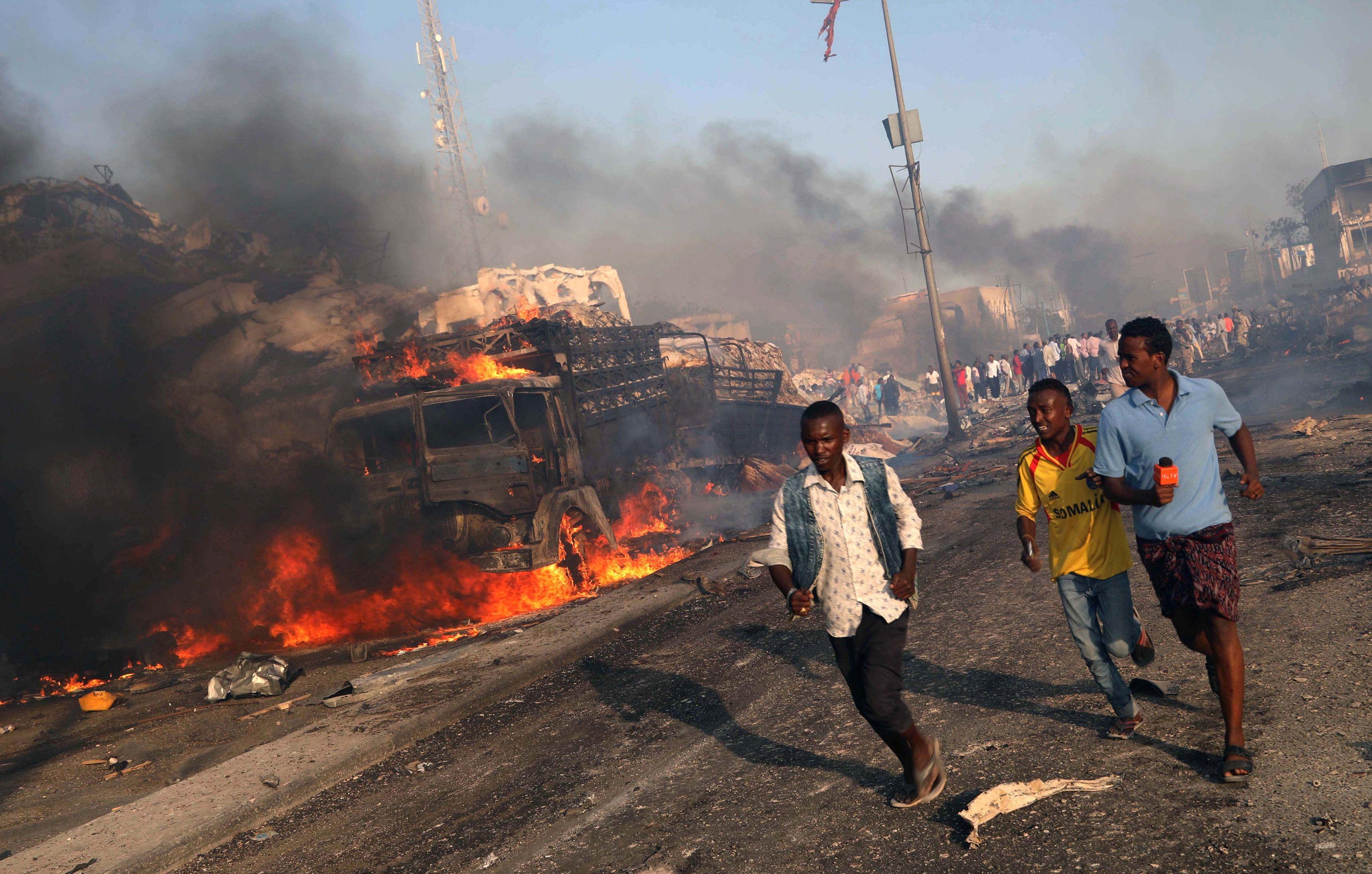Последствия взрыва в Могадишо, иллюстрация