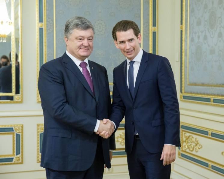 Петр Порошенко и Себастьян Курц.