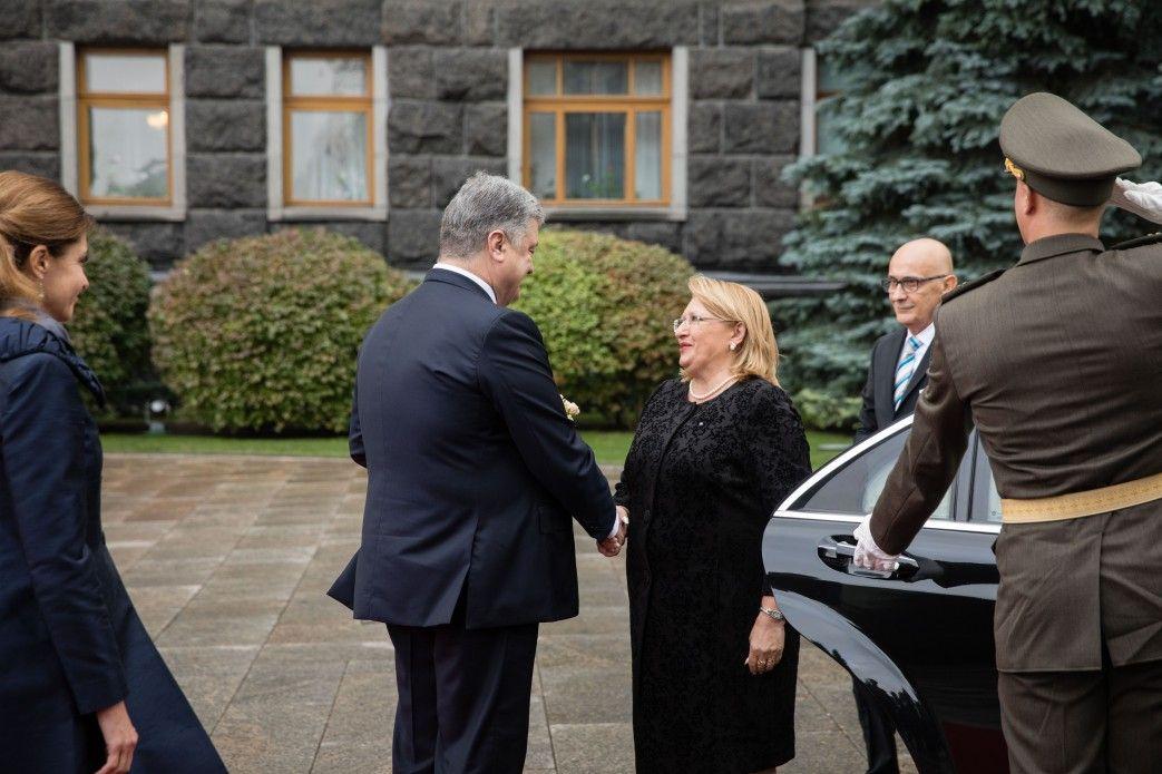 Петра Порошенко и Мари-Луиз Колейро Прека.