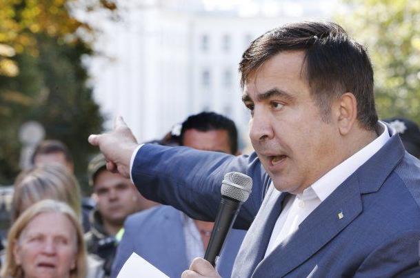 Михеил Саакашвили под Администрацией президента, иллюстрация