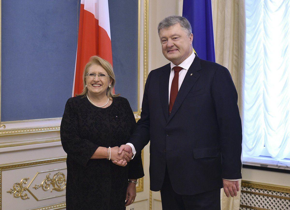 Петр Порошенко и Мари-Луиз Колейро Прека