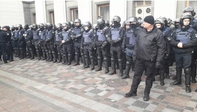 Протесты в Киеве, иллюстрация.