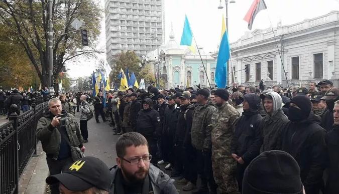 Протесты под Радой длились три дня