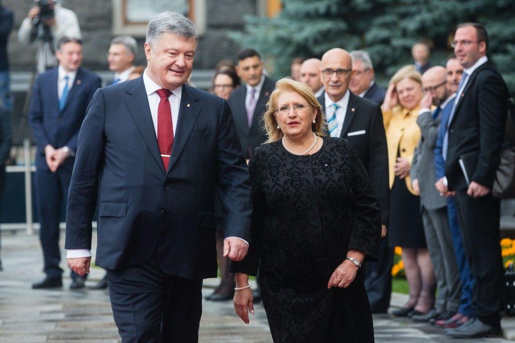 Петр Порошенко и Мари-Луиз Колейро Прека на Банковой