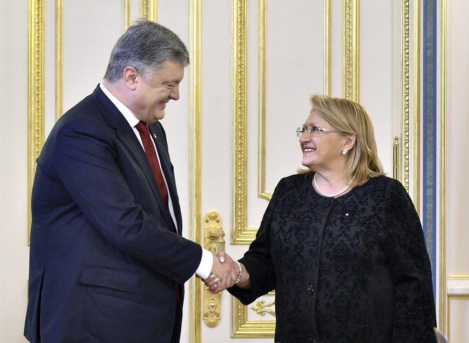 Петр Порошенко и Мари-Луиз Колейро Прека в Администрации президента