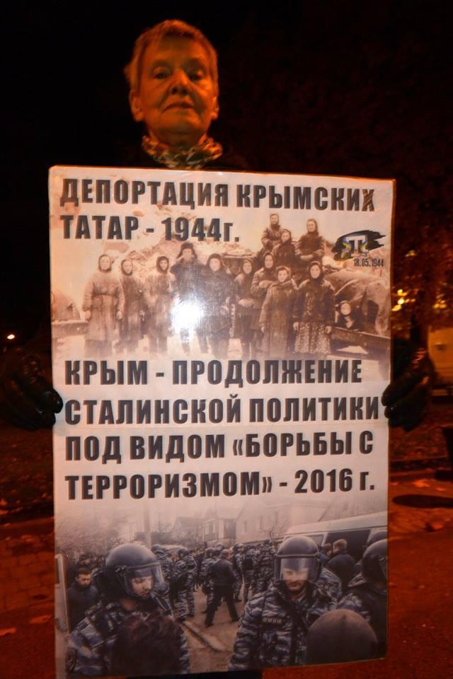 В России прошли пикеты в поддержку крымских татар, опубликованы фото и видео
