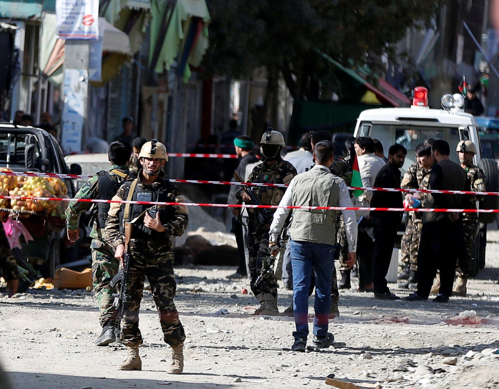 Афганские силовики в Кабуле,  иллюстрация
