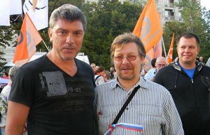 Борис Немцов и Алексей Строганов