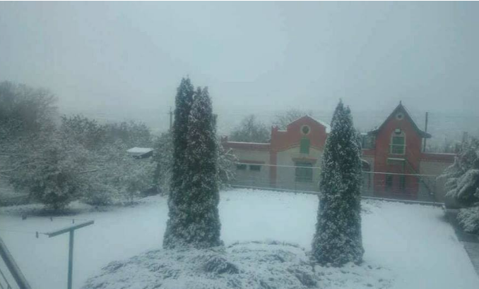 Снег в Купянске