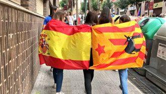 Мирный протест в Барселоне