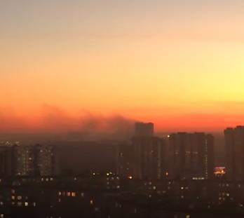 Пожар в здании СВР