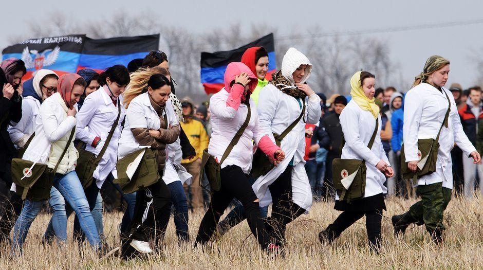 Резервисты боевиков на Донбассе, иллюстрация.