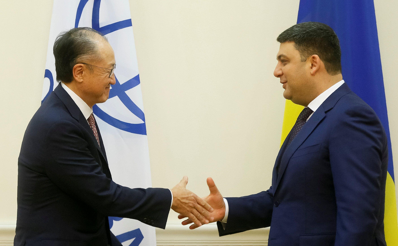 Джим Йонг Ким и Владимир Гройсман