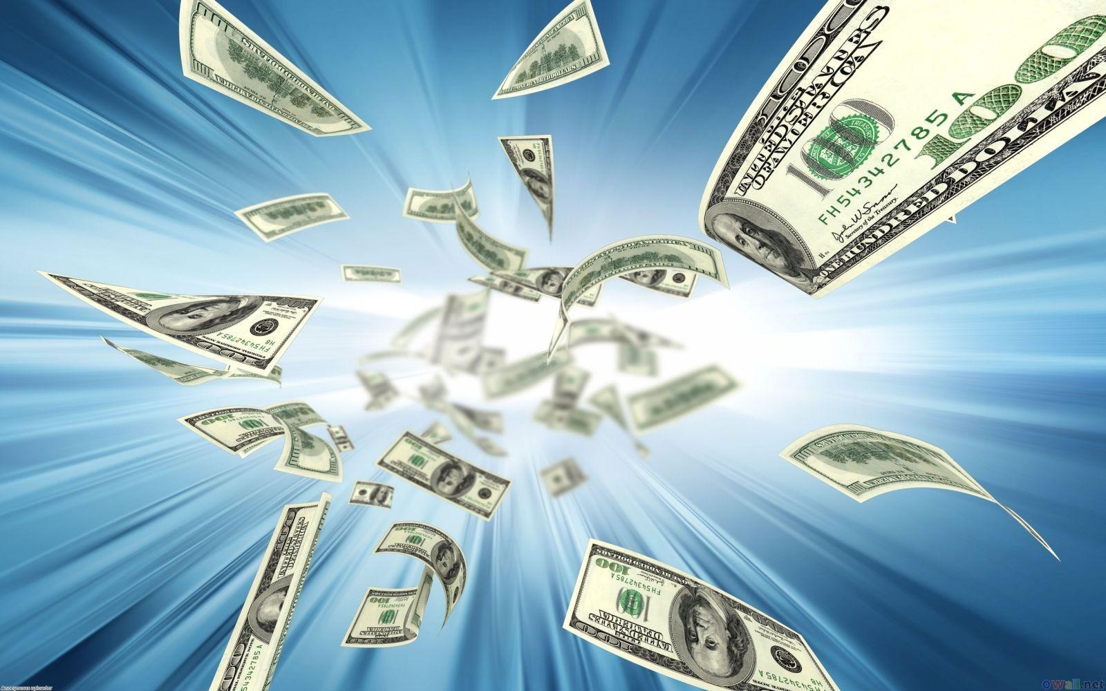 Летящие доллары