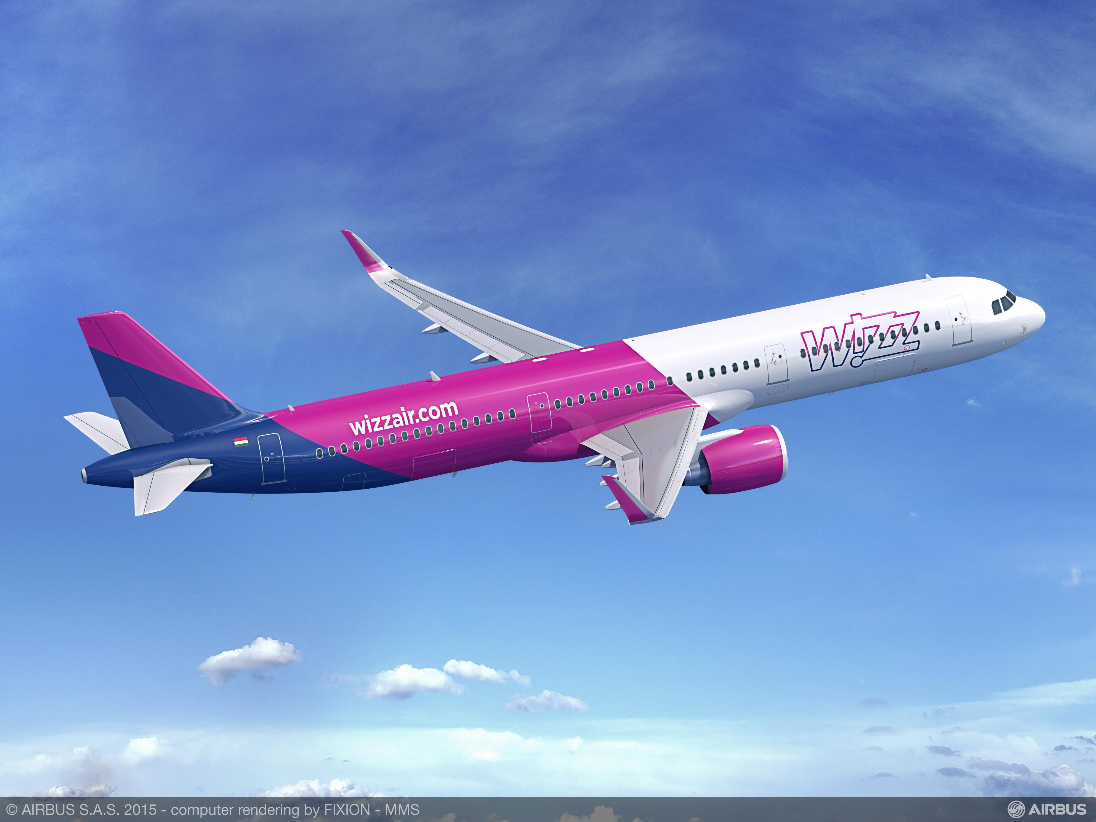 Лайнер авиакомпании Wizz Air