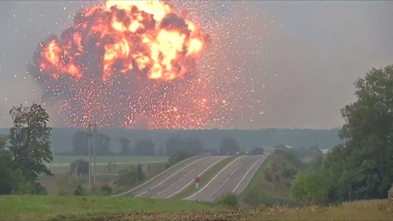 Взрывы боеприпасов в Калиновке (Винницкая область)