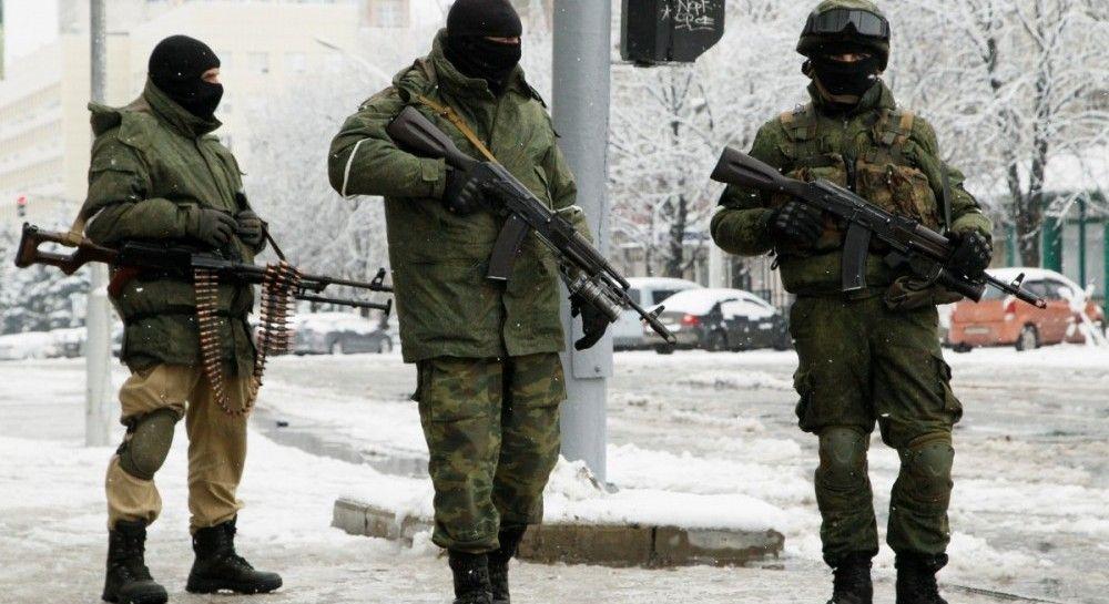 Российские оккупанты в Луганске