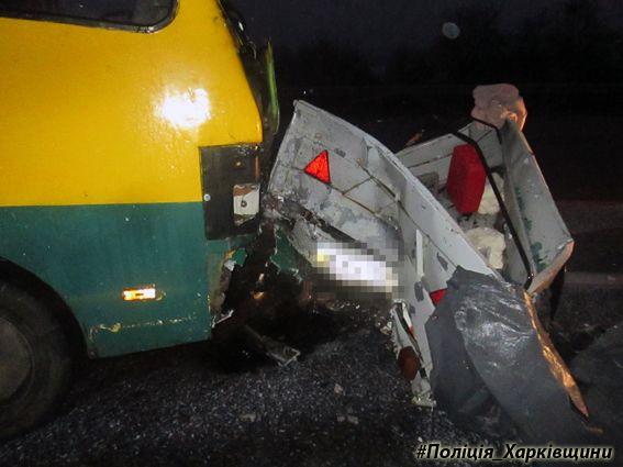 В ДТП с участием рейсового автобуса на Харьковщине пострадали семеро