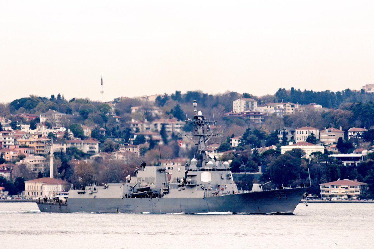 Эсминец США движется в сторону Одессы