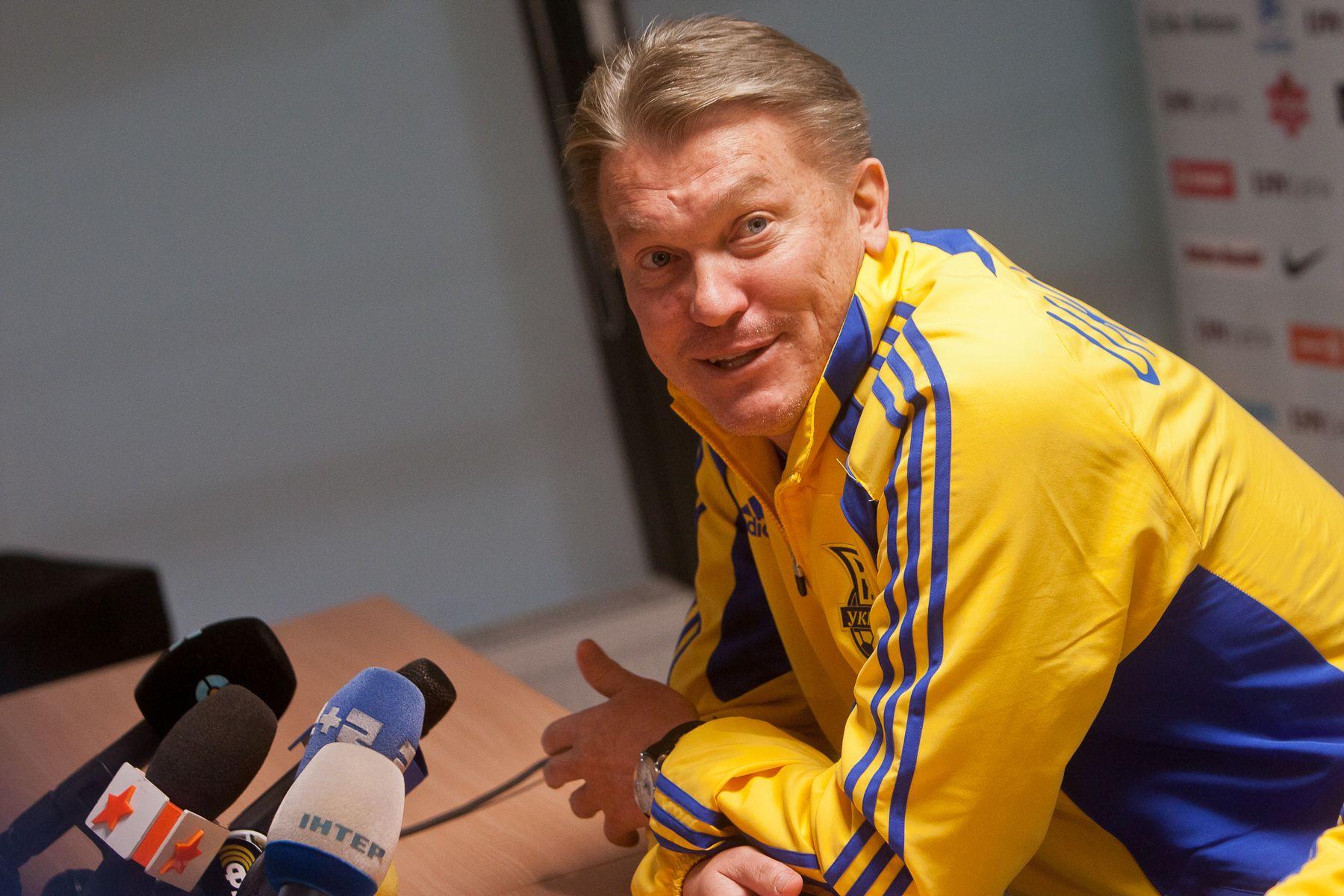 Олег Блохин в бытность главным тренером украинской сборной