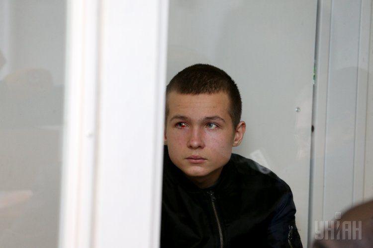 Богдан Попов на скамье подсудимых