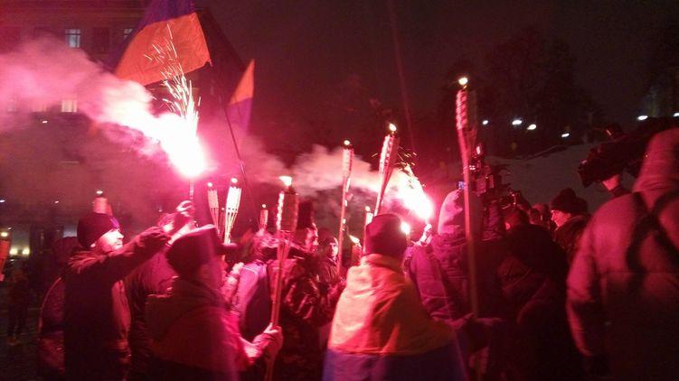 В Киеве произошли столкновения с правоохранителями