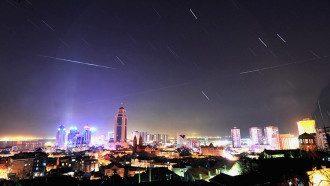 Панорама ночного американского города