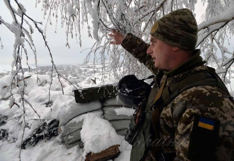 Позиции сил АТО на Донбассе, иллюстрация.