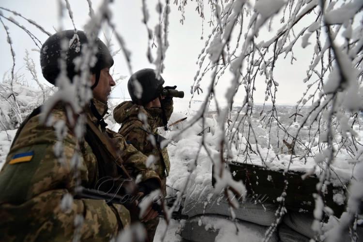 Позиции сил АТО на Луганщине, иллюстрация.