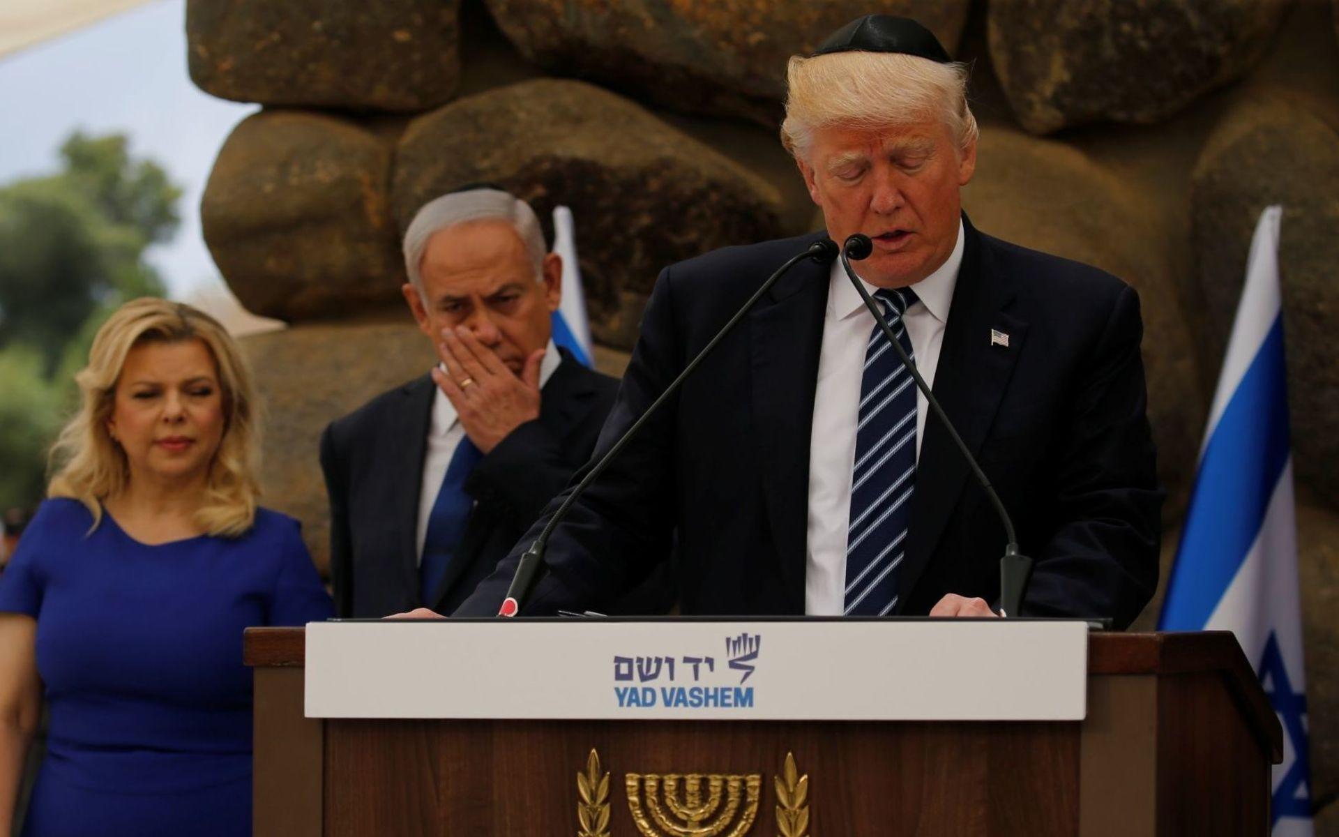 Президент США Дональд Трамп во время официального визита в Израиль
