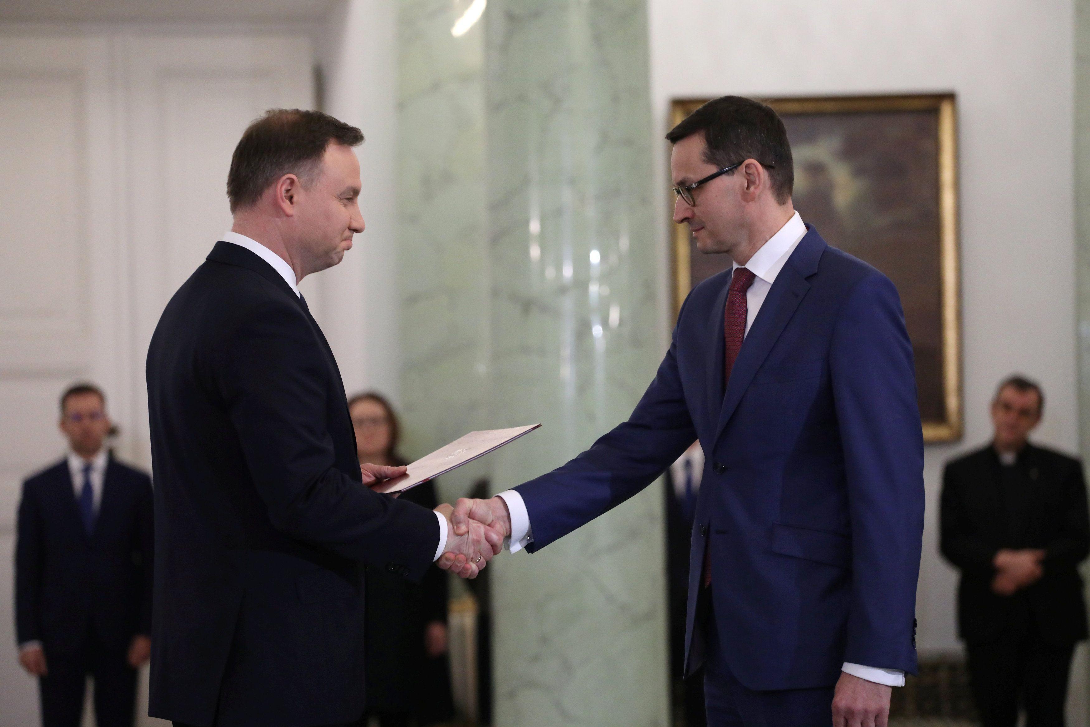 Анджей Дуда и Матеуш Моравецкий.