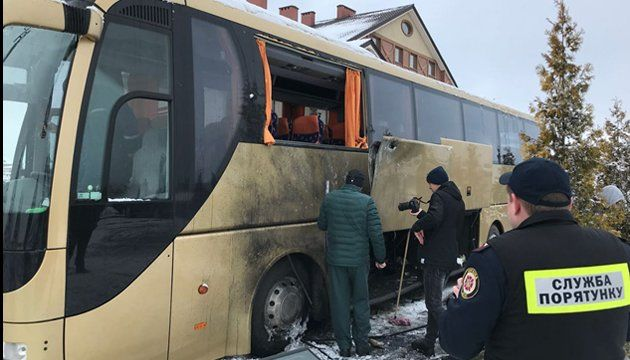 Автобус под Львовом взорвали с помощью РПГ