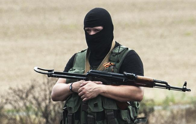Террорист во время войны на Донбассе