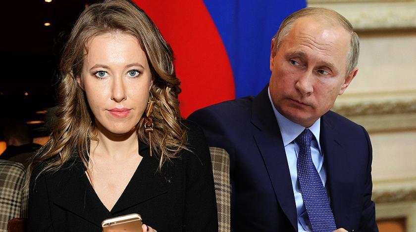 Ксения Собчак и Владимир Путин