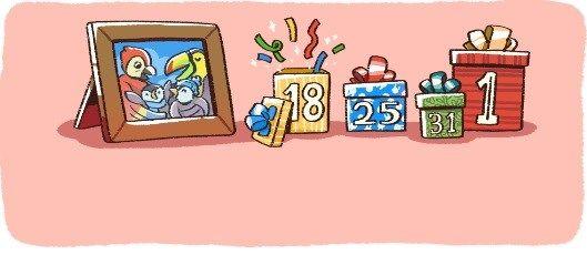 Сюрприз от Google. Веселые пингвины стали героями новогодних дудлов