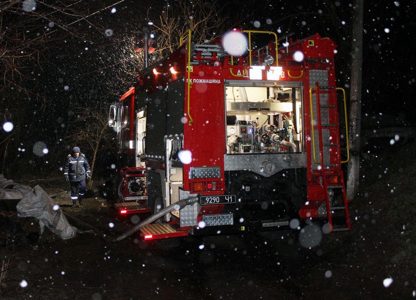 Пожарные ликвидировали возгорание вчера поздно вечером