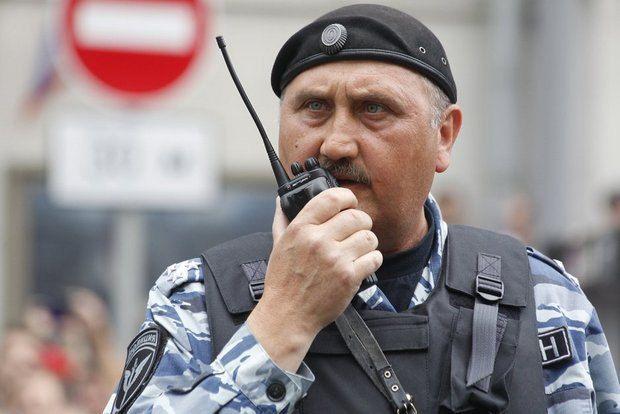 Сергей Косюк в рядам ОМОНа в Москве