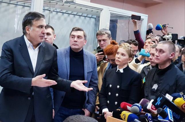Михеил Саакашвили в суде