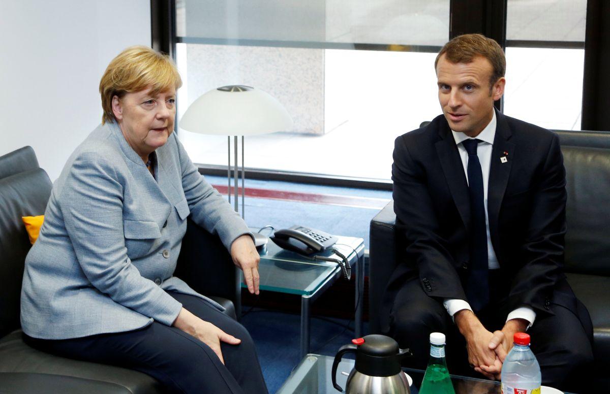 Меркель, Макрон