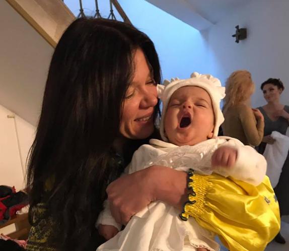 Руслана Лыжичко стала крестной дочери своего друга