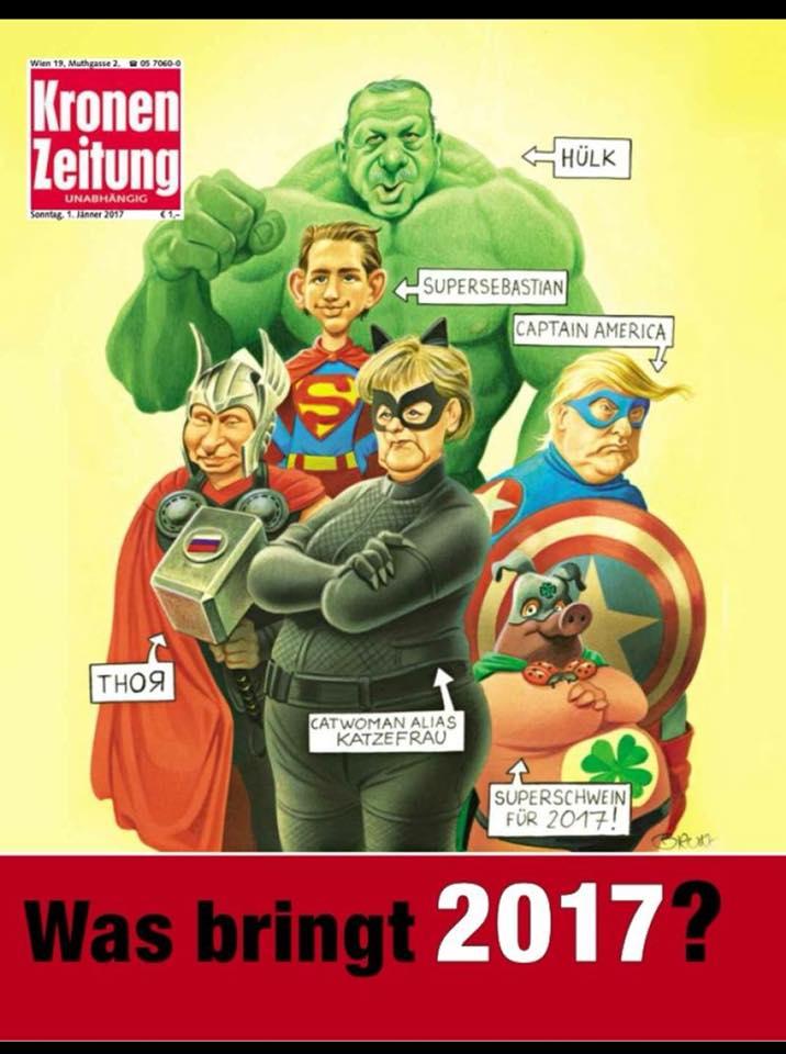 А так выглядит настоящая обложка австрийской газеты.