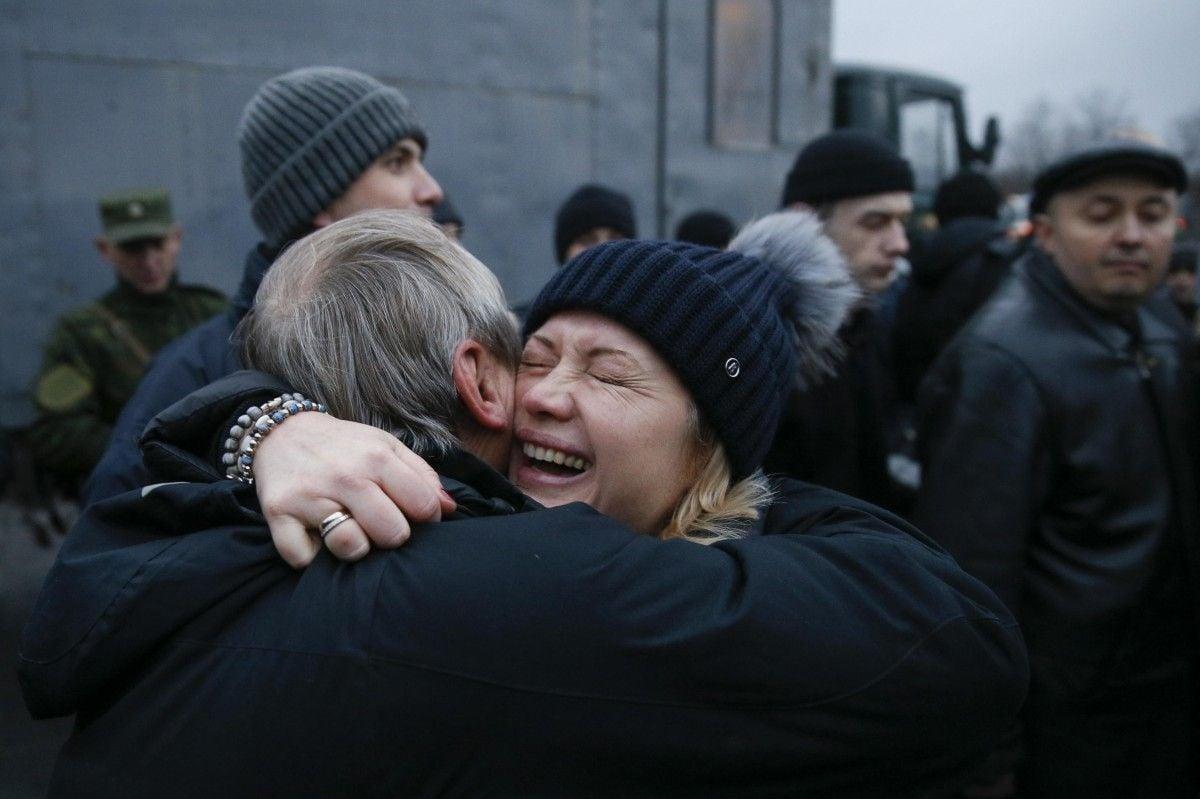 Эпизод встречи украинскиъ пленных после обмена
