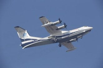 Самолет-амфибия AG600 впервые поднялся в воздух