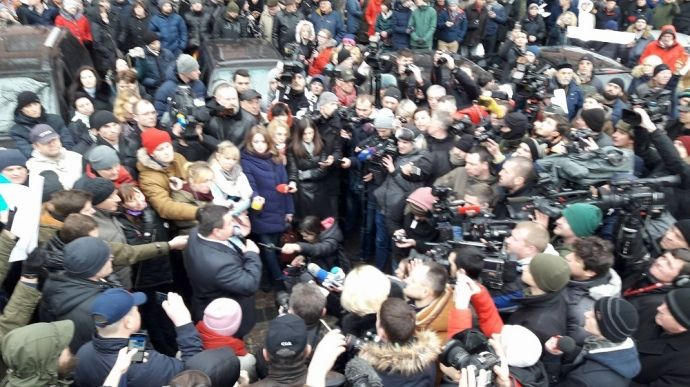 Люди вышли на протест после убийства Ноздровской