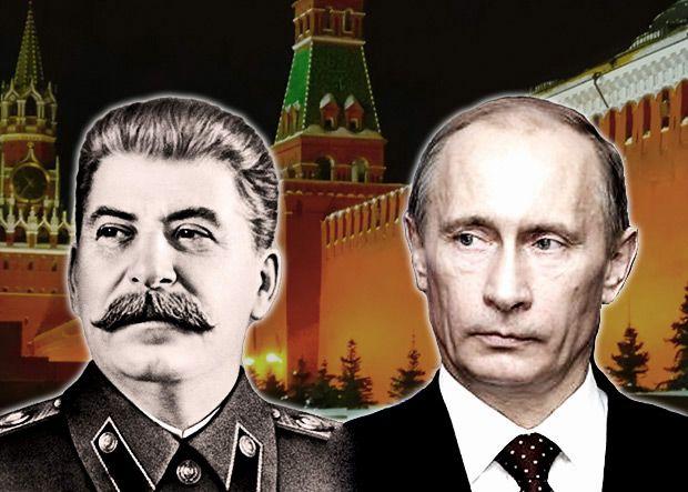 Иосиф Сталин и Владимир Путин