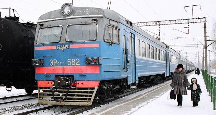 Пригородный поезд в Белоруссии