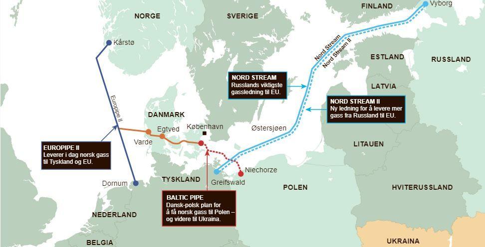 Карта строительства российского газопровода